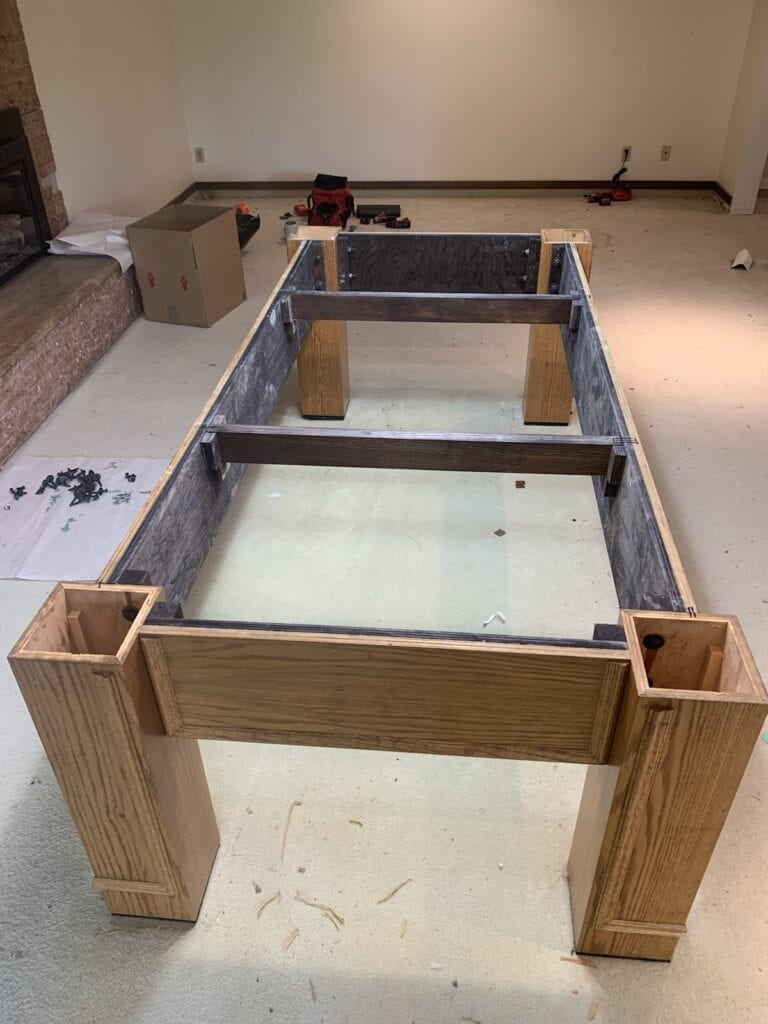 Pool table frame